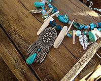 Náhrdelníky - Modrý boho náhrdelník - 10593562_