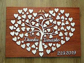 Dekorácie - svadobná kniha hostí/drevený strom 22 - 10594801_