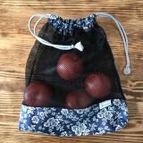 Úžitkový textil - Sada vrecka na ovocie zeleninu sieťka čierne - 10593255_