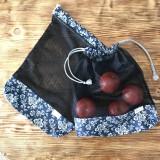 Úžitkový textil - Sada vrecka na ovocie zeleninu sieťka čierne - 10593257_