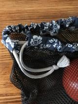Úžitkový textil - Sada vrecka na ovocie zeleninu sieťka čierne - 10593258_