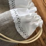 Úžitkový textil - Ľanové vrecko na pečivo a potraviny - 10593268_