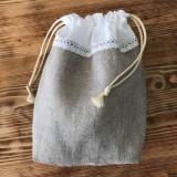 Úžitkový textil - Ľanové vrecko na pečivo a potraviny - 10593270_