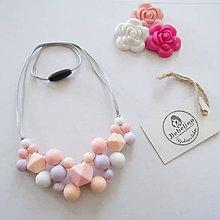 Náhrdelníky - Silikónový dojčiaci náhrdelník - 10592279_