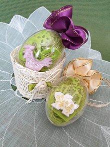 Dekorácie - Veľkonočné vajíčko (so zajačikom) - 10592939_