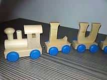 Hračky - Drevený písmenkový vláčik - TAMARKA - 10593294_