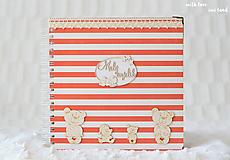 Papiernictvo - Detský fotoalbum - pre dievčatko (bielo-červený) - 10594737_