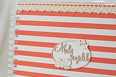 Papiernictvo - Detský fotoalbum - pre dievčatko (bielo-červený) - 10594739_