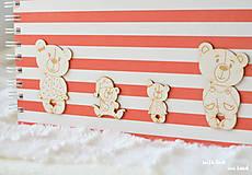 Papiernictvo - Detský fotoalbum - pre dievčatko (bielo-červený) - 10594740_