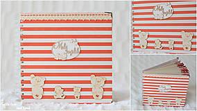 Papiernictvo - Detský fotoalbum - pre dievčatko (bielo-červený) - 10594741_