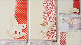 Papiernictvo - Detský fotoalbum - pre dievčatko (bielo-červený) - 10594743_