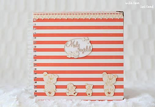 Detský fotoalbum - pre dievčatko (bielo-červený)