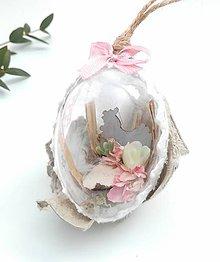 Dekorácie - Veľkonočné vajíčka 4 ks vintage - 10592792_