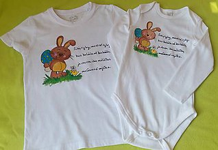 Detské oblečenie - Veľkonočné maľované body/tričko - 10593602_