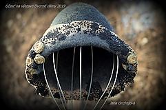 Čiapky - Sivo béžový klobúk - 10594076_