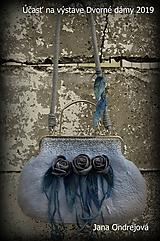 Kabelky - Kabelka vintage blue - 10594731_