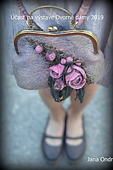 Kabelky - Sivo ružová kabelka - 10594790_