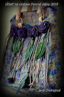 Veľké tašky - Plstená kabelka Chanelka - 10594584_