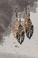 Náušnice - Drevené náušnice - Ornament 2 - 10593694_
