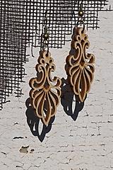 Náušnice - Drevené náušnice - Ornament 2 - 10593699_