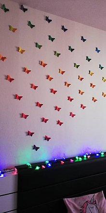 Drobnosti - Dekoratívne 3D motýliky na stenu - 10592026_