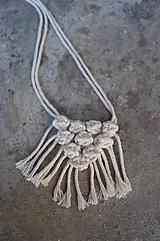 """Náhrdelníky - macramé náhrdelník """"desaťguličkový - 10592014_"""