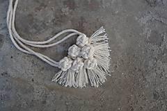 """Náhrdelníky - macramé náhrdelník """"šesťguličkový - 10592089_"""