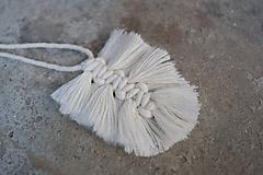 """Náhrdelníky - macramé náhrdelník """"jednoducho list - 10592106_"""