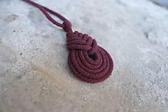 Náhrdelníky - macramé pipa color náhrdelník - 10592126_