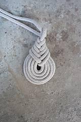 Náhrdelníky - macramé pipa color náhrdelník - 10592129_