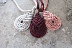 Náhrdelníky - macramé pipa color náhrdelník - 10592139_