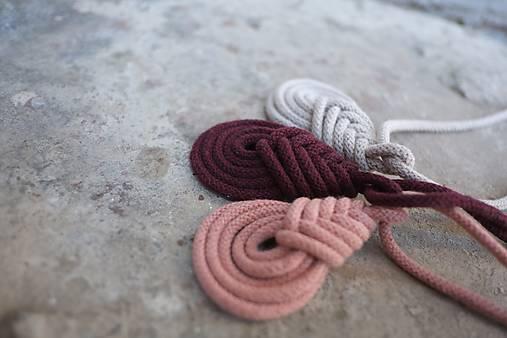 macramé pipa color náhrdelník