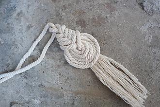 Náhrdelníky - macramé pipa natur náhrdelník - 10592143_