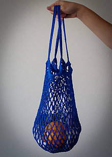Nákupné tašky - Sieťová taška lesklá (Námornícka modrá) - 10594243_
