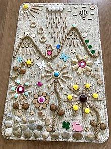Detské doplnky - Senzomotorický koberec Spring is coming - 10592492_