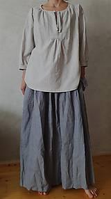 Sukne - ľanová dlhá sukňa - 10594545_