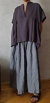 Sukne - ľanová dlhá sukňa - 10594548_