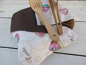 Úžitkový textil - bezodpadové utierky- muffiny - 10591713_