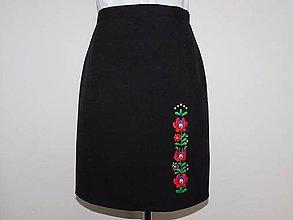 Sukne - Ručne vyšívaná sukňa - 10593213_