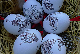 Dekorácie - Veľkonočné vajíčka - gazdovský dvor - 10594552_