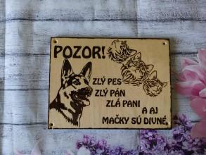 Tabuľky - Pozor pes a divne mačky - 10592703_