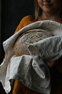 Úžitkový textil - Utierka z ľanového plátna - 10594676_