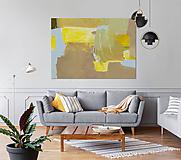 Obrazy - BROWN FIELDS - REPRODUKCIA - 10593244_