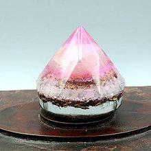 Dekorácie - Diamant * EX Růženín (4) Láska 4. Čakra - 10595554_