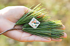 Odznaky/Brošne - Ručně malovaná brož s ptáčkem - mini - 10598439_
