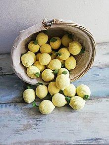Hračky - Háčkované citróny - 10596847_