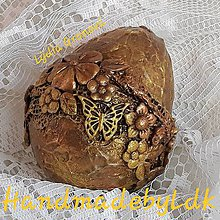 Dekorácie - Vajíčko s 3D efektom - Medeno zlaté - 10597588_