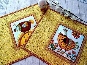Úžitkový textil - Happy Hens II.... No.1 prestieranie 2 ks - 10597815_