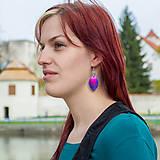 Náušnice - Náušnice Double Luxury - černá a červená - 10597196_