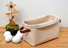 Košíky - Bavlnený košík-natur - 10597769_